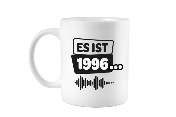 Es ist 1996 schwarz weiß Tasse