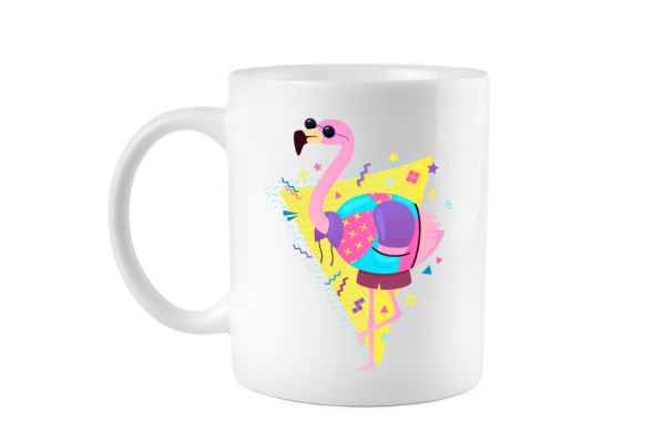 Retro Flamingo Tasse