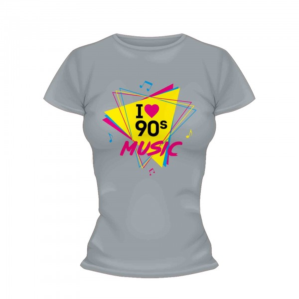 I love 90s Music Shirt Frauen
