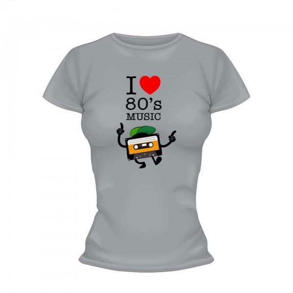 I love 80s Music Kassette Shirt Frauen