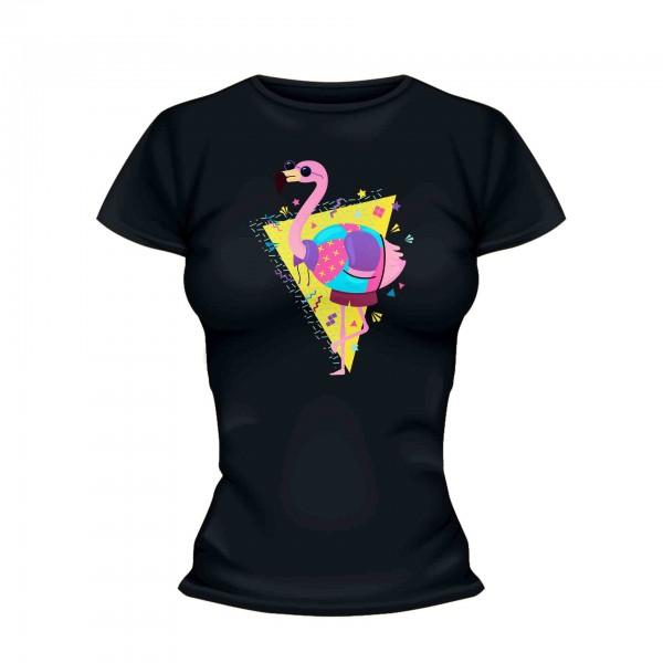 Retro Flamingo Shirt Frauen
