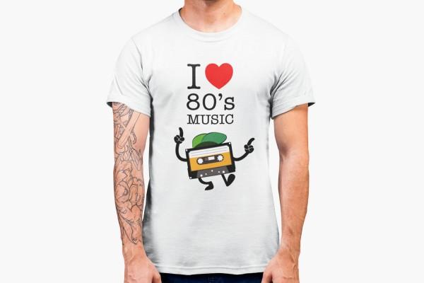 I love 80s Music Kassette Männer