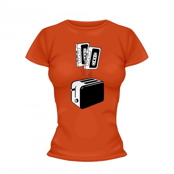 Tape Toaster Retro Shirt Frauen