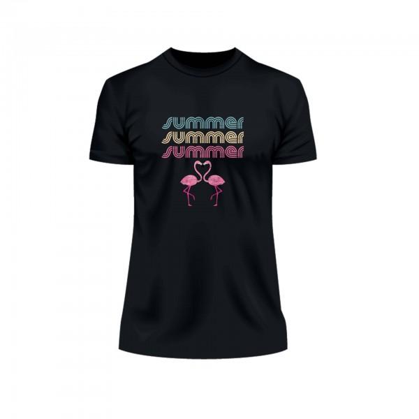 Summer Flamingo Retro Shirt Männer