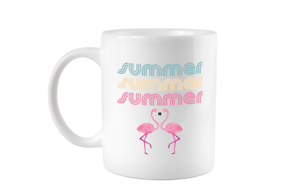 Summer Flamingo Retro Tasse