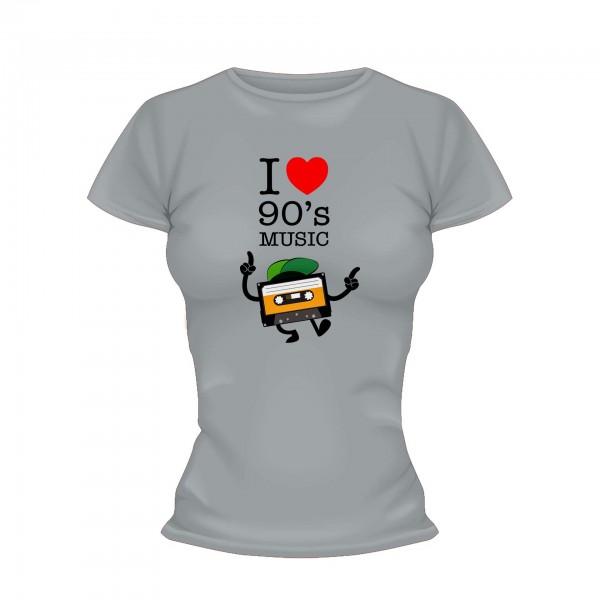 I love 90s Music Kassette Shirt Frauen